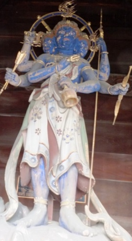 善光寺「仁王門」荒神像