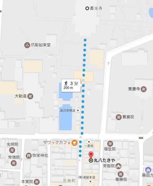 丸八たきやの場所と地図